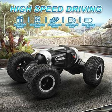 ETEPON Macchina Telecomandata, 2.4Ghz RC Auto 4WD Stunt Car, Deformazione ad Alta velocità Macchina Radiocomandata per Bambini Giocattoli - EQ70 - 5