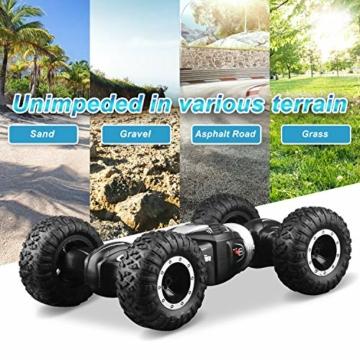 ETEPON Macchina Telecomandata, 2.4Ghz RC Auto 4WD Stunt Car, Deformazione ad Alta velocità Macchina Radiocomandata per Bambini Giocattoli - EQ70 - 6