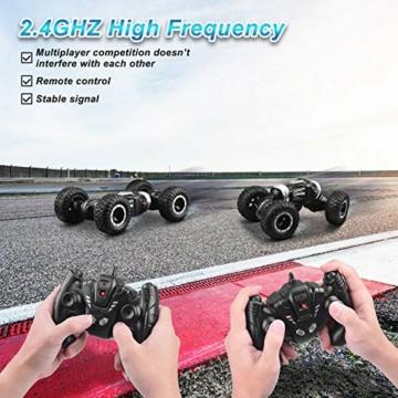 ETEPON Macchina Telecomandata, 2.4Ghz RC Auto 4WD Stunt Car, Deformazione ad Alta velocità Macchina Radiocomandata per Bambini Giocattoli - EQ70 - 7
