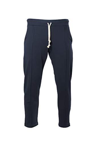 Givova - Pantalone da Uomo City Blu in Cotone French Terry con Tasca Posteriore e Stampa Inferiore Givova - Palestra, Lavoro, Running, Corsa, Tempo Libero (XL) - 1
