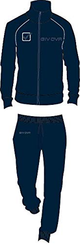 givova Tuta Uomo in Felpa Full Zip calibrata Oversize Art. G606C (Dark Blu, 4XL) - 1
