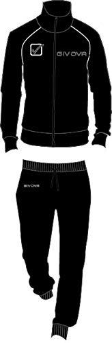 Givova Tuta Uomo in Felpa Nero Full Zip calibrata Oversize Art. G606C (5XL) - 1