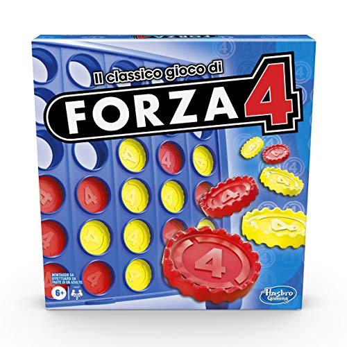 Hasbro Gaming - Forza 4, Gioco in Scatola, Versione 2020 in Italiano, Gioco per Bambini dai 6 Anni in su - 1