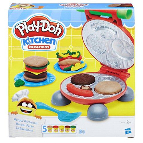 Hasbro Play-Doh-B5521EU6 Play-Doh Kitchen Creations Il Burger Set, Colore, 0816B5521EU6 - 1