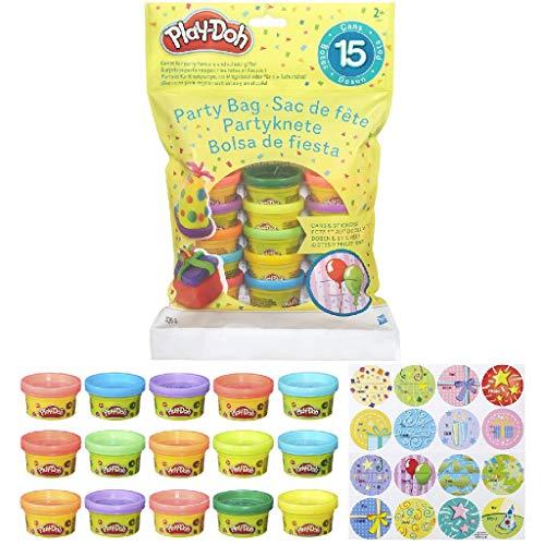 Hasbro- Play-Doh Bustina di Vaso, Multicolore, 15 Vasetti, 18367EU4 - 1