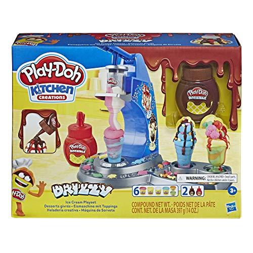 Hasbro - Play-Doh Gelato Drizzy, Playset con Pasta da Modellare Kitchen Creations, E6688 - 1
