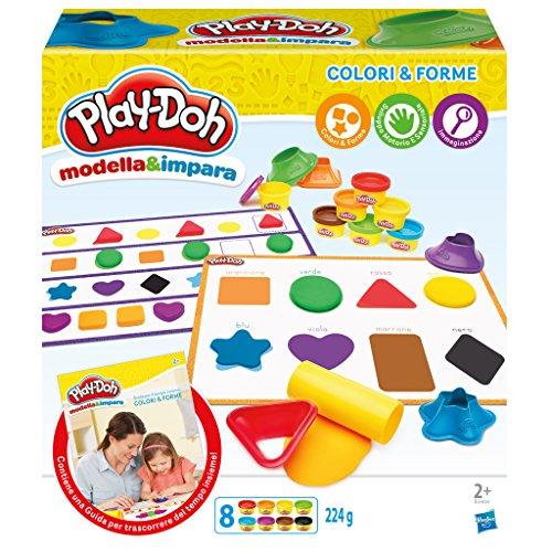 Hasbro Play-Doh - Modella e Impara Colori e Forme, B3404103 - 1