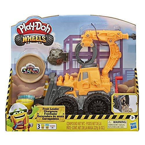 Hasbro Play-Doh Wheels - Escavatore Deluxe (Playset con Composto sabbioso Play-Doh e Pasta da Modellare Play-Doh Classica) - 1