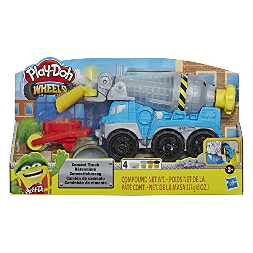 Hasbro Play-Doh - Wheels Play-Doh Autocarro Betoniera Playset con Pasta da Modellare Cemento e in 3 Colori Atossici, E68915L1 - 1