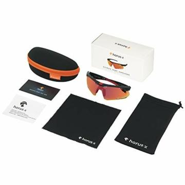 Horus X - Occhiali da Sole Sportivi - Occhiali da Sole con Protezione UV400 - Occhiali Sportivi Bici MTB Ciclismo Corsa all'Aperto - Uomo e Donna - S/M - 2