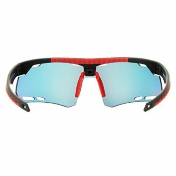 Horus X - Occhiali da Sole Sportivi - Occhiali da Sole con Protezione UV400 - Occhiali Sportivi Bici MTB Ciclismo Corsa all'Aperto - Uomo e Donna - S/M - 4