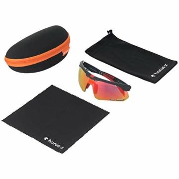 Horus X - Occhiali da Sole Sportivi - Occhiali da Sole con Protezione UV400 - Occhiali Sportivi Bici MTB Ciclismo Corsa all'Aperto - Uomo e Donna - S/M - 8