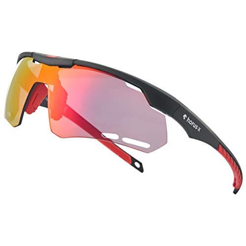 Horus X - Occhiali da Sole Sportivi - Occhiali da Sole con Protezione UV400 - Occhiali Sportivi Bici MTB Ciclismo Corsa all'Aperto - Uomo e Donna - S/M - 1