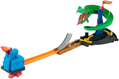 Hot Wheels Attacco al Cobra Playset per Stimolare Immaginazione e Creatività dei Bambini di 4 + Anni, Include una Macchinina, Compatibile con tutte le piste Hot Wheels City, FNB20 - 1