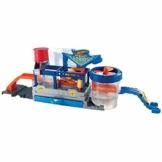 Hot Wheels- Playset Autolavaggio con un Nastro Trasportatore Automatico, Tecnologia Cambia Colore e Macchinina, Giocattolo per Bambini 4+ Anni, GWT33 - 1