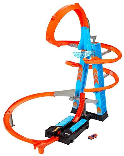 Hot Wheels - Torre Scontri Estremi, Pista Alta 83cm con Booster Motorizzato e Macchinina, Giocattolo per Bambini 5+ Anni, Pack Sostenibile, GWT39 - 1