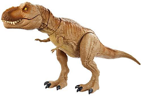 Jurassic World, Dinosauro T-Rex Ruggito Epico, con Suoni e Vibrazioni, Giocattolo per Bambini 4+ anni, GJT60 - 1