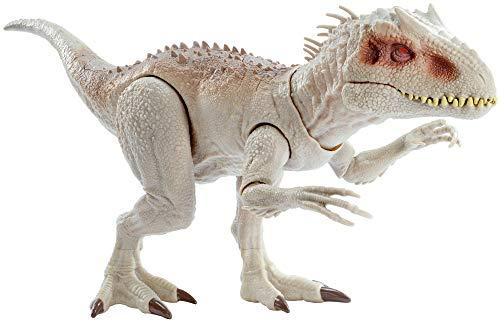 Jurassic World- Indominus Rex Dinosauro Alto 21,5 cm e Lungo 58 cm circa, con Luci e Suoni Giocattolo per Bambini, 4 + Anni, GNH35 - 1