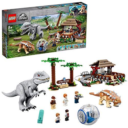 LEGO JurassicWorld IndominusRexControAnkylosaurus, Set di Costruzione dei Dinosauri con Girosfera, 75941 - 1