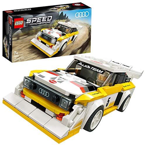 LEGO SpeedChampions 1985AudiSportQuattroS1, Giocattolo con Minifigura del Pilota, Set da Costruzione di Auto da Corsa, 76897 - 1