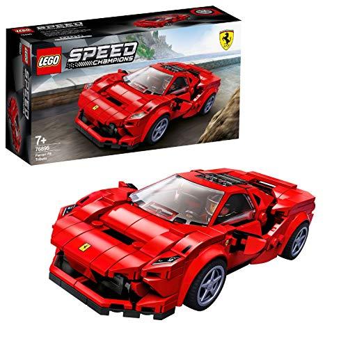 LEGO SpeedChampions FerrariF8Tributo, Giocattolo Ispirato alle Corse,con Minifigura del Pilota, Set da Costruzione di Auto da Corsa, 76895 - 1
