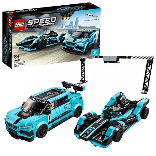 LEGO SpeedChampions FormulaEPanasonicJaguarRacingGEN2car&JaguarI-PACEeTROPHY, Set con Auto da Corsa, 76898 - 1