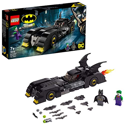 LEGO Super Heroes 76119 - Batmobile, Inseguimento di Joker con Due Minifigure Batman e Joker, Idea Regalo per Bambini +7 Anni - 1