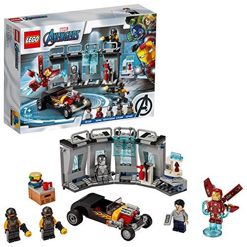 LEGO Super Heroes Armeria di Iron Man, Set di Costruzioni Ricco di Dettagli per Bambini +7 Anni e per i Fan Marvel Avengers, 76167 - 1