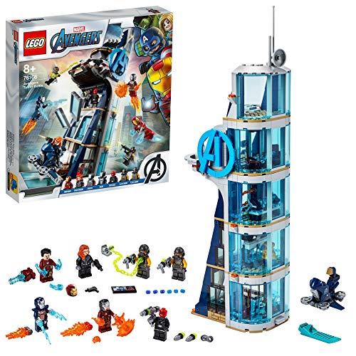LEGO Super Heroes Battaglia sulla Torre, Set di Costruzioni Ricco di Dettagli per Bambini +8 Anni e per i Fan Marvel Avengers, 76166 - 1