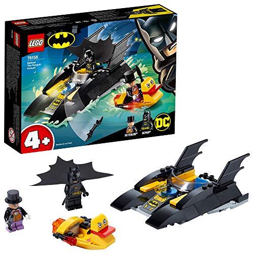 LEGO SuperHeroes DCBatman All'inseguimentodelPinguinoconlaBat-barca, Imbarcazione Giocattolo per Bambini di 4 Anni, 76158 - 1