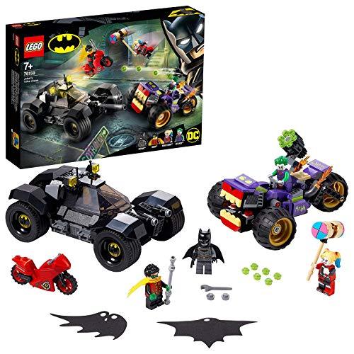 LEGO SuperHeroes DC BatmanAll'InseguimentodelTre-ruotediJoker con la Batmobile e le Minifigure di HarleyQuinneRobin, 76159 - 1