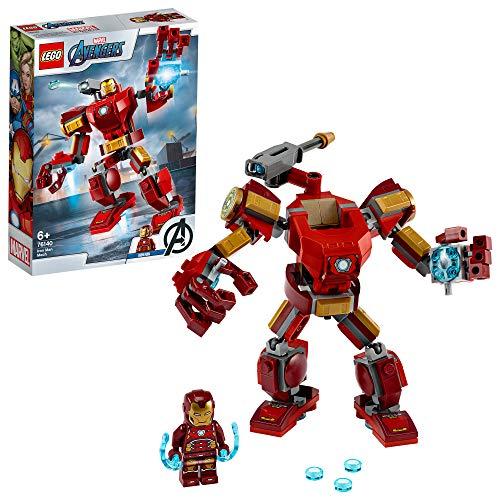 LEGO SuperHeroes MarvelAvengersMechIronMan, Playset conFigura Mobile da Combattimento, per Bambini dai 6 Anni in su, 76140 - 1