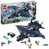 LEGO SuperHeroes Marvel L'UltimateQuinjetdegliAvengers, Playset Ispirato ai Supereroi conle Minifigure di BlackWidow,Hawkeye,RocketeThor, 76126 - 1