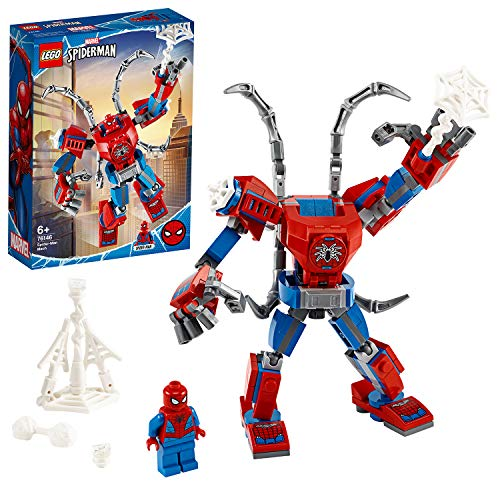 LEGO SuperHeroes Marvel MechSpider-Man, Playsetper Bambini dai 6 Anni in su, 76146 - 1