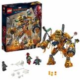 LEGO SuperHeroes MarvelSpider-Man LabattagliadiMolten con Figura da Costruire e Minifigure di Mysterio e pompiere, Ispirato al Film Spiderman:FarFromHome, 76128 - 1