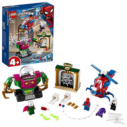 LEGO SuperHeroes MarvelSpider-Man LaMinacciadiMysterio, Giocattolo con Elicottero per Bambini, 76149 - 1