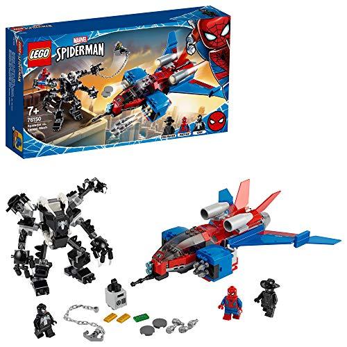 LEGO SuperHeroes Spiderjetvs.MechVenom, Playsetcon la Minifigura diSpider-ManNoir, 76150 - 1