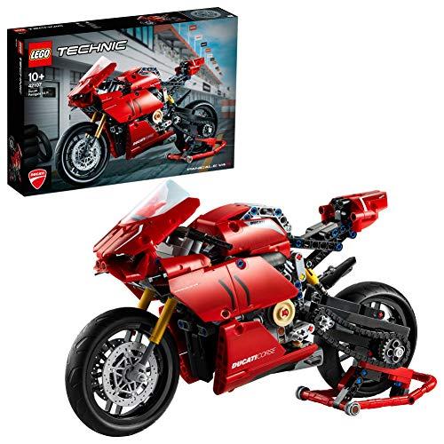 LEGO Technic DucatiPanigaleV4R, Superbike Collezionabili da Esposizione, Set di Costruzioni, 42107 - 1