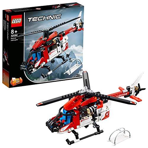 LEGO Technic ElicotterodiSalvataggio, Velivolo di Soccorso Giocattolo 2 in 1,Set da Costruzione per Bambini e Bambine dagli 8 Anni in su, 42092 - 1