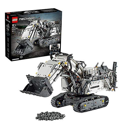 LEGO Technic EscavatoreLiebherrR9800, Set di Costruzioni Avanzato Controllato con App,Motori Interattivi e Connessione Bluetooth, 42100 - 1