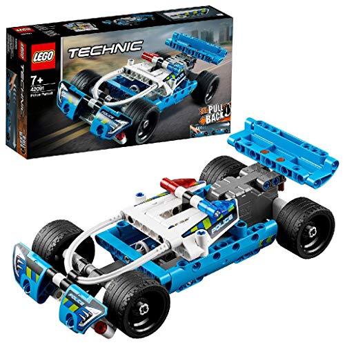 LEGO Technic InseguimentodellaPolizia, Macchina Dotata di Motore Pull-Back, Set da Costruzione per Bambini e Bambine dai 7 Anni in su, 42091 - 1