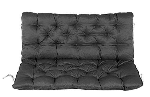 Mare WEH cuscino con schienale per panca, Grigio, 100x 98x 12cm, 74080 - 1