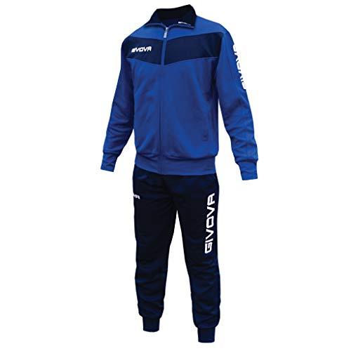 menitashop Tuta GIVOVA Uomo Donna Visa Fitness Calcio Blu Nero Bianco Giallo Rosso (Azzurro/Blu, S) - 1