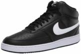 Nike Court Vision Mid, Basketballschuhe Uomo, Mehrfarbig (Black/White 001), 42.5 EU - 1