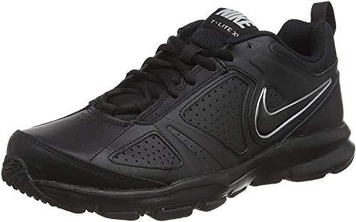 Nike T-Lite XI, Scarpe da Ginnastica Uomo, Nero (Black/Black-Metallic Silver), 44 EU (9 UK) - 1