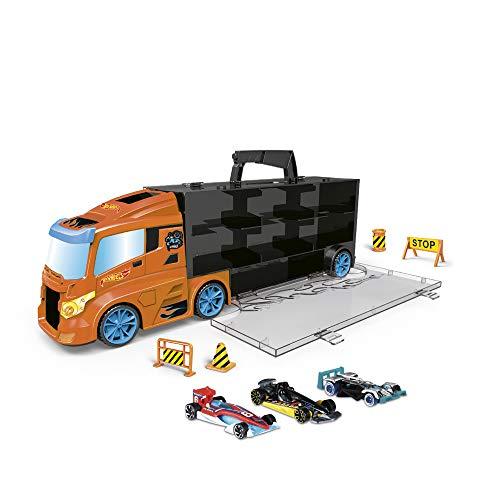 ODS- Transporter 40 Hot Wheels Camion Valigetta con Auto Originali Incluse, Colore Blu, 42033 - 1