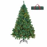 OUSFOT Albero di Natale 180cm con 400 LED 8 modalità Luci Albero di Natale 800 Rami Supporto Pieghevole in Metallo Alberi di Natale con Custodia PVC Facile da Montare per Decorazioni Natalizie - 1