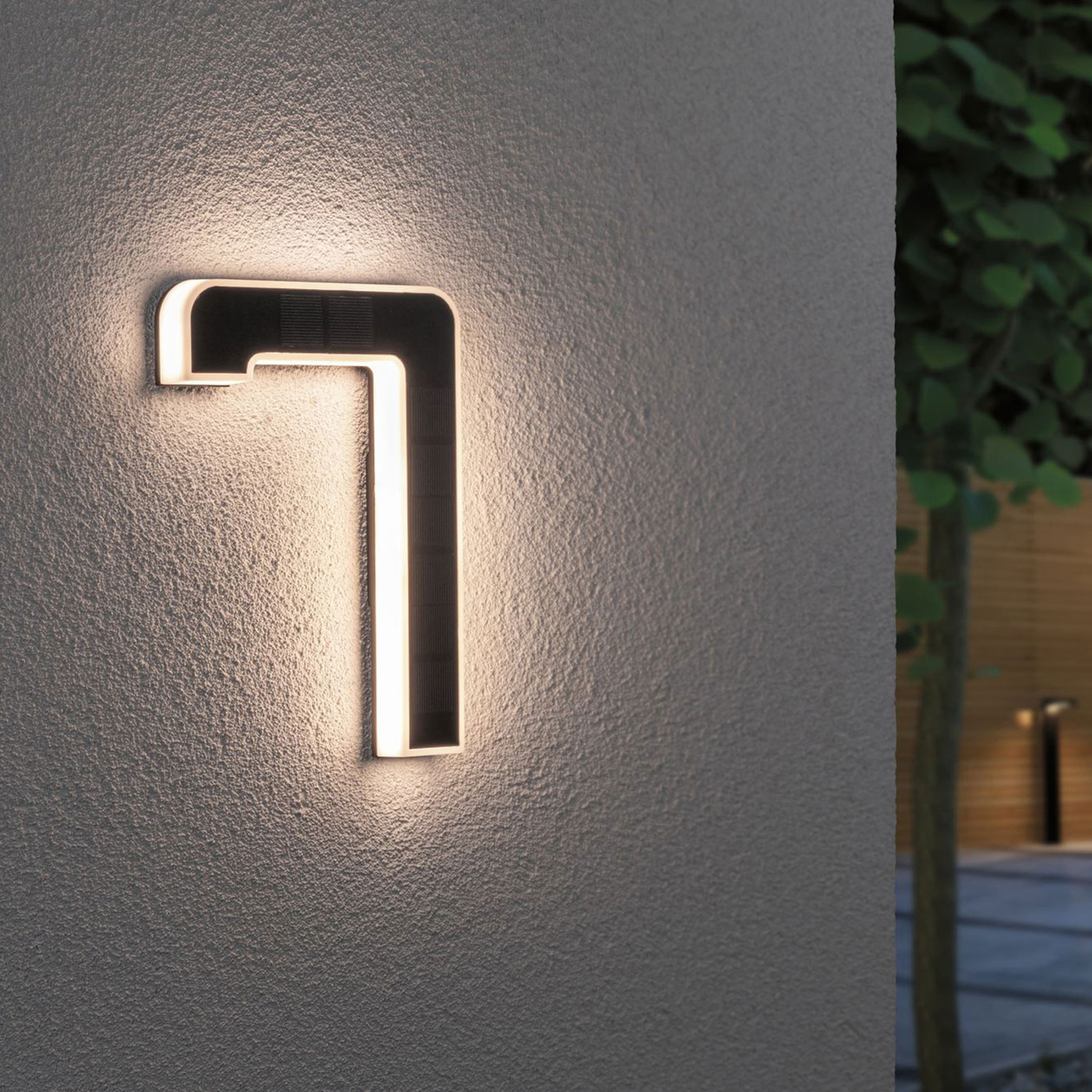 Paulmann lampada LED solare numero civico 7 Offerte e sconti