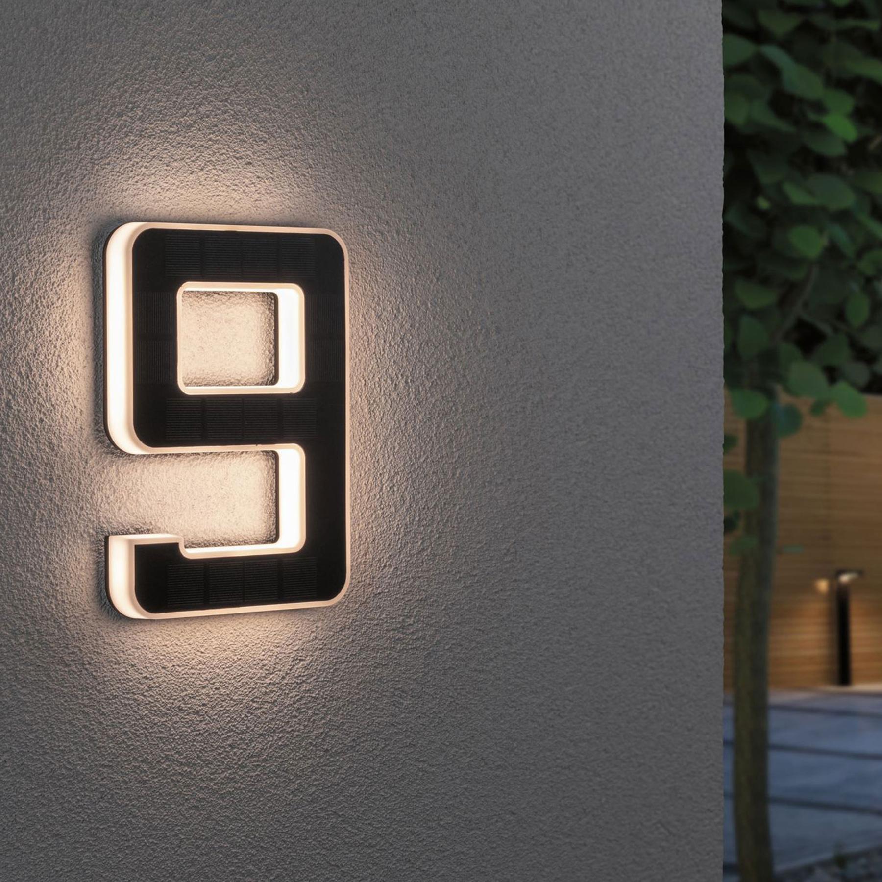 Paulmann lampada LED solare numero civico 9 Offerte e sconti