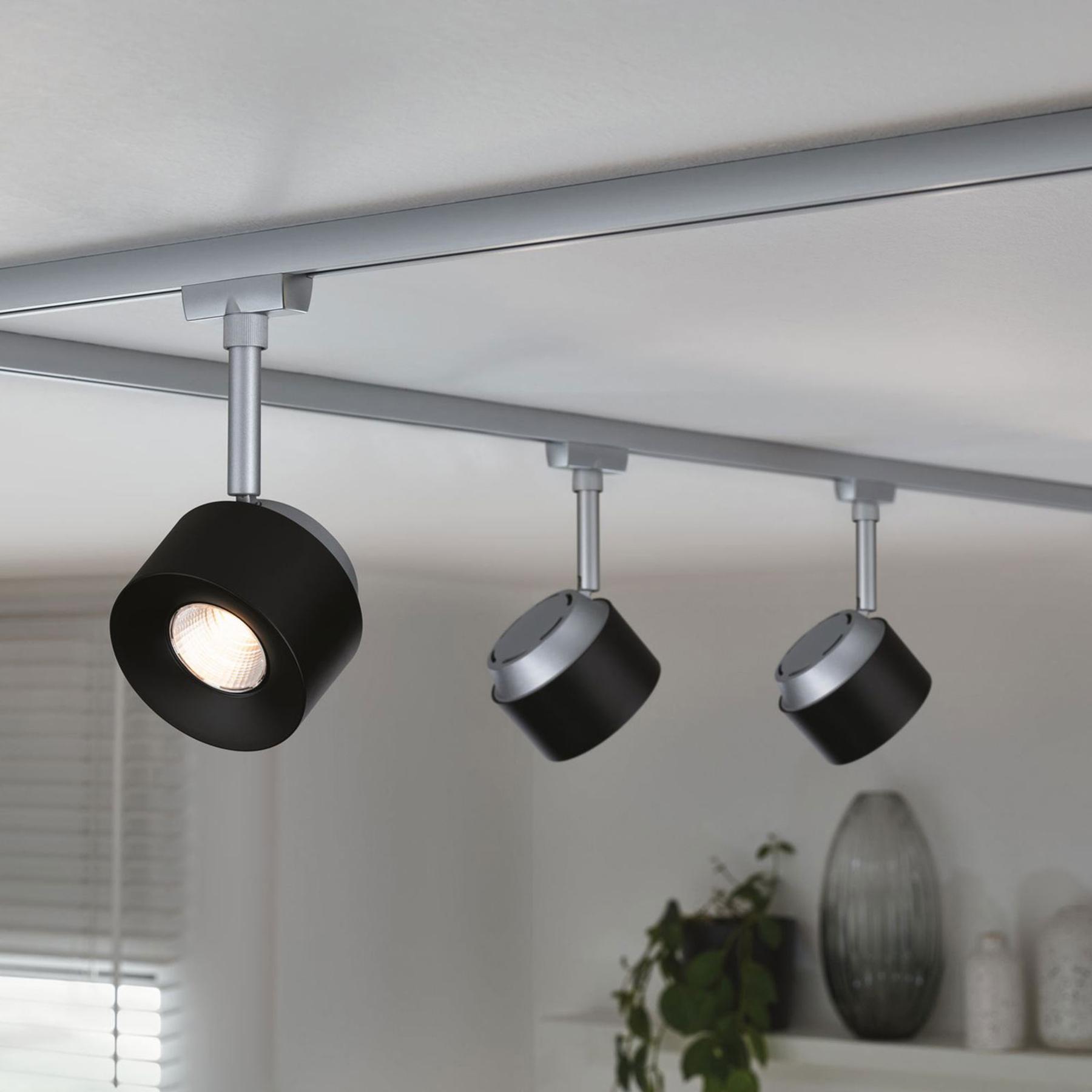 Paulmann URail spot LED Pane cromo satinato, nero Offerte e sconti